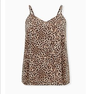SOPHIE - LEOPARD CHIFFON DOUBLE LAYER SWING CAMI 0